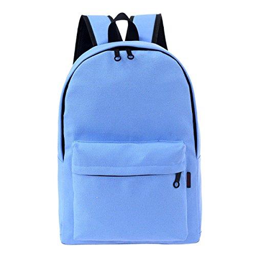 Unisex Moda Mochila Mochila Laptop Mochila De La Escuela Para Las Niñas O Los Muchachos Adolescentes Blue2