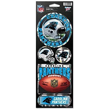 WinCraft NFL Carolina Panthers Prismatic Stickers, Team Color, One Size -