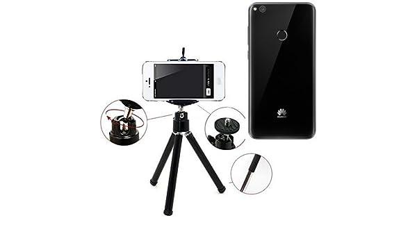 K-S-Trade Smartphone Trípode/Soporte Móvil/Trípode como para Huawei P8 Lite 2017 Single SIM. Trípode De Aluminio/Trípode con Soporte para El Teléfono Móvil, Universal ...