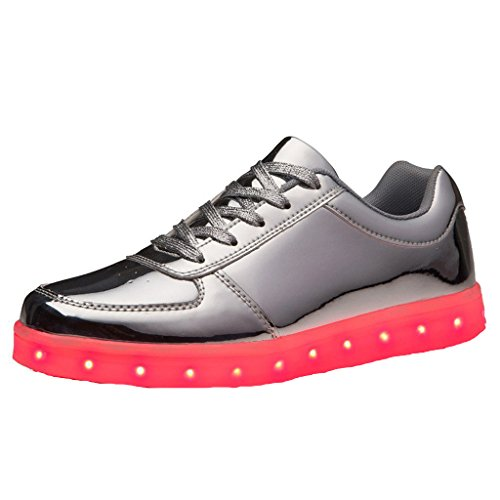 Turnschuhe Lackleder Schuhe High für USB Aufladen Top 7 c9 Sport JUNGLEST® Handtuch kleines Present Farbe Glow Dam Unisex LED Leuchtend Herren Sneakers qwxFatW