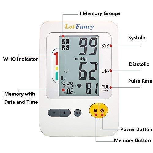 LotFancy Pressure Monitor, Upper Arm Sphygmomanometer