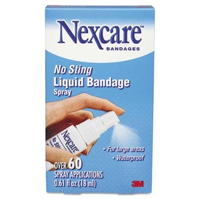 3M Nexcare - 4 Pack - No-Sting Liquid Bandage Spray .61Oz ''Product Category: Breakroom And Janitorial/Bandages Pads & Wraps''