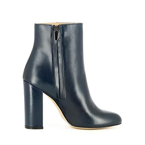 Evita Cuir Shoes Ilenea Bottines Lisse Bleu Foncé Femme AFArI8q