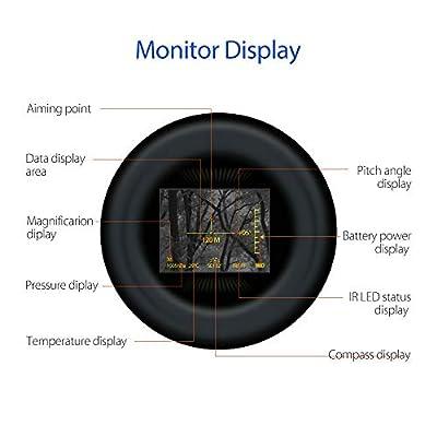 RENYAYA 6X32 500M Ranging Finder IR Night Vision Multifuctional Monocular Telescope Compass Hunting Night Measure Height Speed Laser Meter Detective Outdoor by RENYAYA