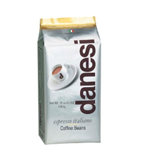 Danesi Gold Quality Beans 2.2 lbs bag Espresso Coffee Beans from Italy (5 x 2.2 lbs) by Danesi