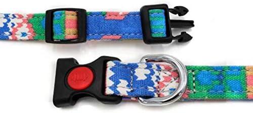 Nandana Collar de Perro Ajustable para Mascotas - Amarillo y Morado - Talla S 3