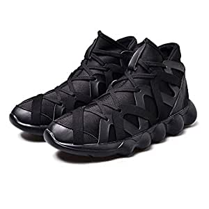 BEESCLOVER Lightweight Running Shoes Men Sneakers Mesh Jogging Shoes Comfortable Athletic Cushioning Outdoor Sport Shoes Black 5.5