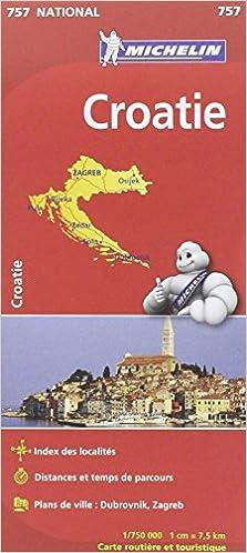 Carte Croatie Telecharger.Amazon Fr Carte National Croatie N 757 L Echelle 1