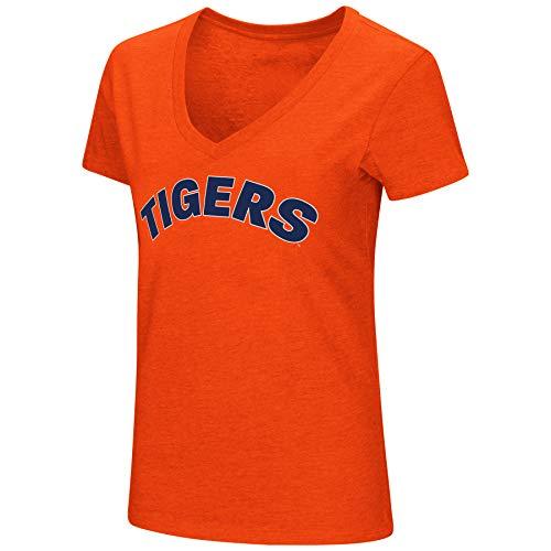 (Colosseum Womens NCAA-Valuable Commodity-Dual Blend Short Sleeve T-Shirt-Auburn Tigers-Orange-Medium)