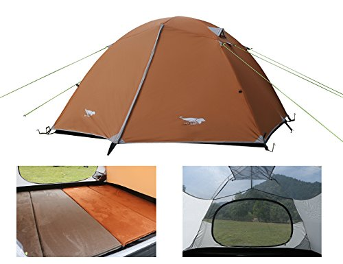 Tempo Loop Fabric (Luxe Tempo Lightweight 4 Person Tent Freestanding for Backpacking Family Camping 7.7 lbs with Ridge Pole Gear Loft Rip-Stop Fabric Aluminum Poles)