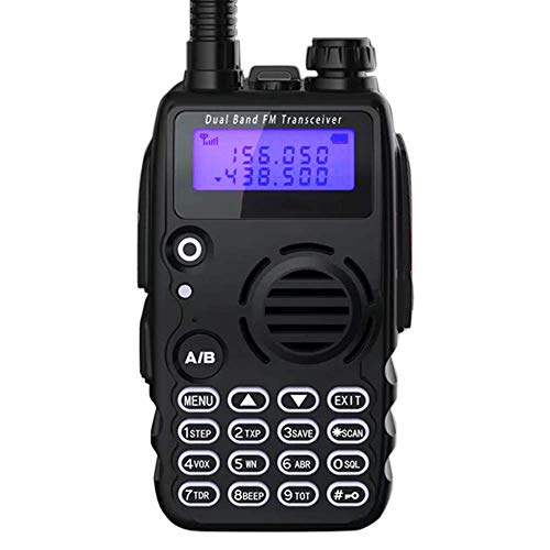 Radioddity GA-5S 7W High Power Two Way Radio UHF VHF Dual Band Ham Radio Walkie Talkie with Flashlight Squelch 1800mAh Battery Earpiece