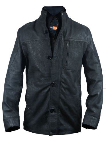 Black Leather Blazer Mens - 6