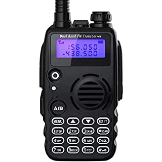 Sale Off Radioddity GA-5S High Power Two Way Radio UHF VHF Dual Band Ham Radio Walkie Talkie with Flashlight Squelch 1800mAh Battery + Earpiece