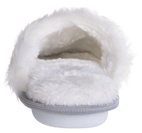 Mixin Dames Casual Indoor / Outdoor Gebreide Pluche Textiel Pantoffels Licht Grijs