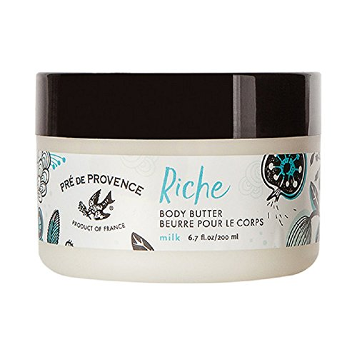 (Pre de Provence Riche Collection Three Cream Hydrating and Soothing Body Butter, Milk, 0.5 Pound)