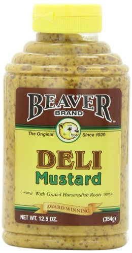 Price comparison product image Beaver Brand Deli Mustard,  12.5-Ounce Squeezable Bottles (Pack of 6)