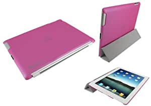 rooCASE Slim-Fit (Pink)Companion Case Compatible with Smart Cover for Apple iPad 2 Wifi / 3G Model 16GB, 32GB, 64GB