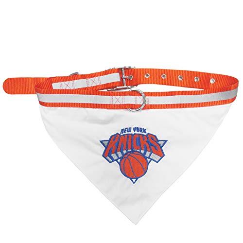 Pets First NBA Bandana - New York Knicks Dog Bandana with Reflective & Adjustable Dog Collar, Large