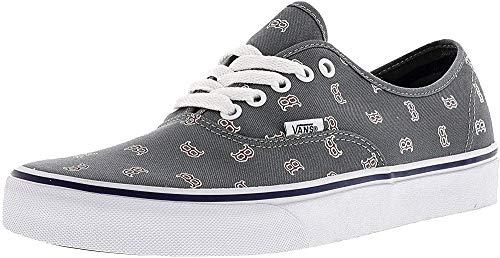 Vans Men's X MLB Authentic (MLB) Boston Red Sox/Gray Skateboarding Shoes (3 M US Little Kid)