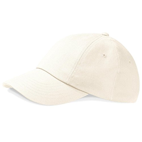Cotton Drill Profile Low Talla B058 Heavy Gorra Única Beechfield Unisex Nat Negro qYXtX4
