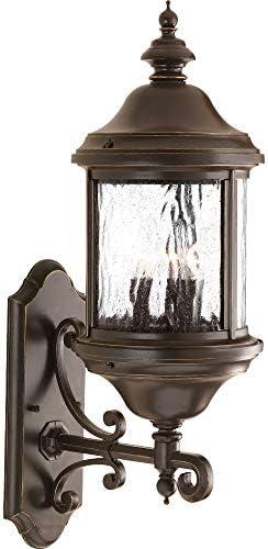 Progress Lighting P5652-20 Traditional Three Light Large Wall Lantern from Ashmore Collection Dark Finish