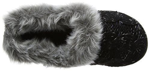 Musta black Aksentti W Tila Naisten Dearfoams Tukkia Kaapeli Low Neuloa top Tossut väriaine W4BZqWPOw1