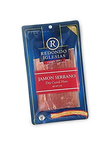 Jamon Serrano - Sliced 3 oz - Redondo Iglesias - 15 months aged dry cured ham - Spain Gourmet Delicatessen
