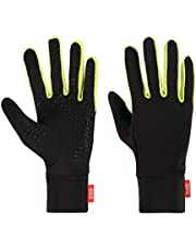 aegend Medium Black Sports Running Gloves Touch Screen Gloves Lightweight Liner Gloves For Running,Walking, Riding, Working Outdoor Men Women In Early Spring Or Fall