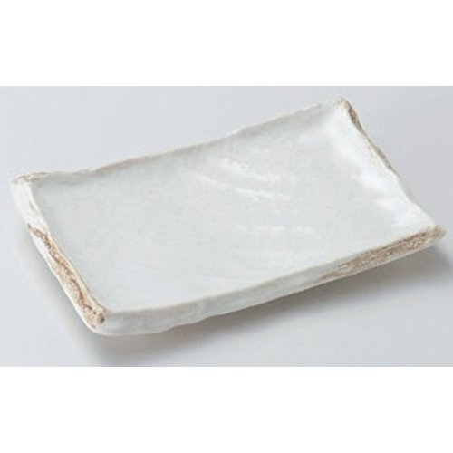 Grilled Fish Plate utw164-9-554 [6.9 x 4.9 x 1.2 inch] Japanece ceramic Kurama Takumikushisara tableware by SETOMONOHONPO (Image #1)