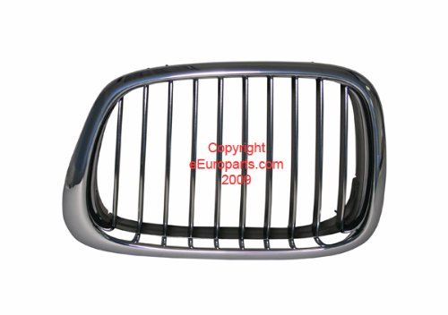BMW e39 540i m5 M-chrome Kidney Grille LEFT Front OEM front nose radiator grill ()