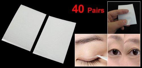 DealMux 40 pares de olhos claros Maquiagem pálpebra adesivos dupla w ...