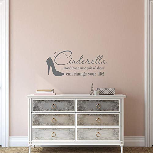 BYRON HOYLE Wall Decal Quote, Proof That A New Pair of Shoes Can Change Your Life Quote, Wall Decals for Girls Bedroom Nursery Decor K216