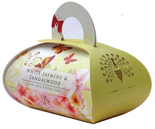 Luxurious Soap Jasmine & Sandalwood Rich Shea Butter made in England (UK)