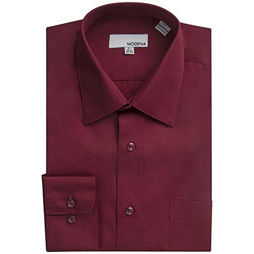 (Modena Men's Long Sleeve Dress Shirt - Colors - All Sizes (Including Big & Tall) (17 32/33,)