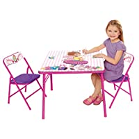 Fancy Nancy Activity Table Set with 2 Chairs, Pink
