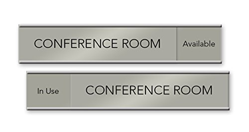 Slider Nameplates and Signs - 10 x 2 (Silver)