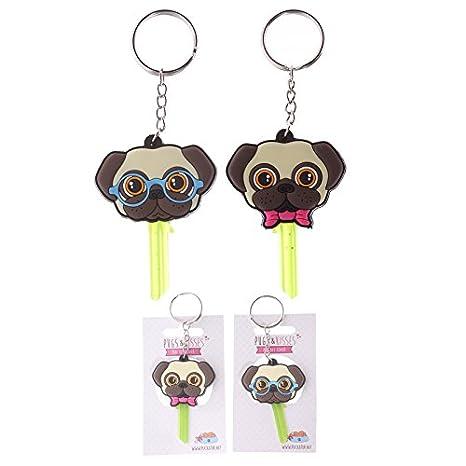 Llavero, diseño de carlino para llaves Pugs & Kisses Perro ...