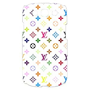 Colorful Louis and Vuitton Logo Customized Thin Durrable Plastic 3D Case Cover L6M015 For Samsung Galaxy S3