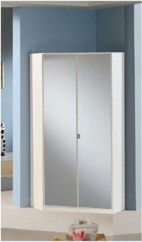 Sconosciuto Berlin 2 porta angolo armadio a specchio e bianco alpino ...