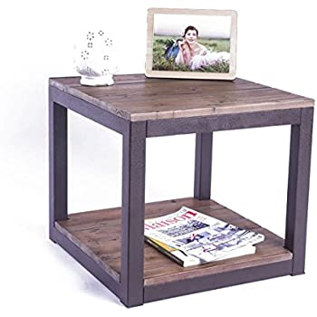 Amazon.com: SONGMICS Vintage End Table, 2-Tier Side Table with ...