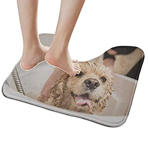Travel Bathroom Mat Wet Dog American Cocker Spaniel Bathroom U-Shaped Non Slip Absorbent Thick Soft Washable Luxury Bath Mat 39