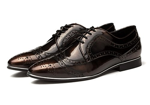 Oxford Shoes Dress OPP 1 Leather Men's Designer Brown Retro wwqvx