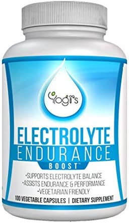 Yogi s Electrolyte Capsules- Endurance Endurolyte Supplement-Electrolyte Supplement-Endurolyte Capsules-Endurance training-100 Capsules