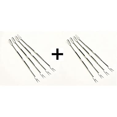 Norpro 801 Stainless Steel Seafood Forks/Picks, Silver, Set of 8