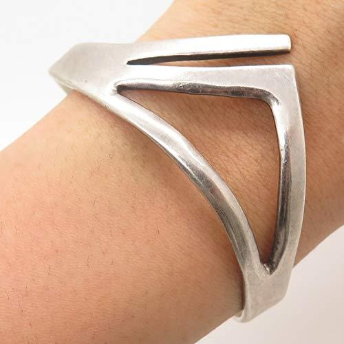 Vintage Mexico 925 Sterling Silver Modernist Bracelet 6 3/4