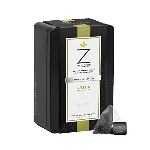 Premium Organic Green Tea, Awarded Best Single Serve Green Tea at the 2017 Global Tea Championships. Biodegradable Premium All-Natural Pyramid Tea Bags by Zealong Creators of The World's Purest Tea