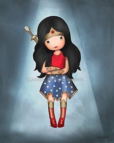 "Wonder Woman Girl Wall Art Kids Bedroom Decor Superhero Nursery Artwork Poster 8""x10"" Unframed Print"