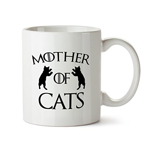 Mother of Cats Funny Coffee Mug -11 oz.- Ceramic - Great Gift (Halloween Blu Ray Box Set Australia)