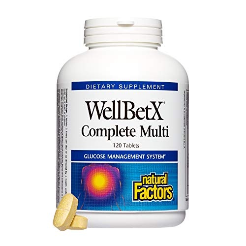 Natural Factors - WellBetX Complete Multi, Multivitamin Support for Healthy Glucose Management with Vitamin C, Chromium, and B Vitamins, 120 ()