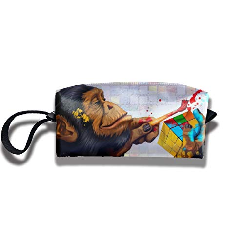 Travel Toiletry Pouch Monkey Shaving Kit Make-up Bag with Handle,Portable Organizer Receive Cosmetic Storage Case for Women and Men]()